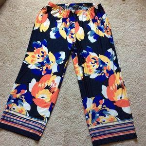 Melissa Paige floral wide leg pants